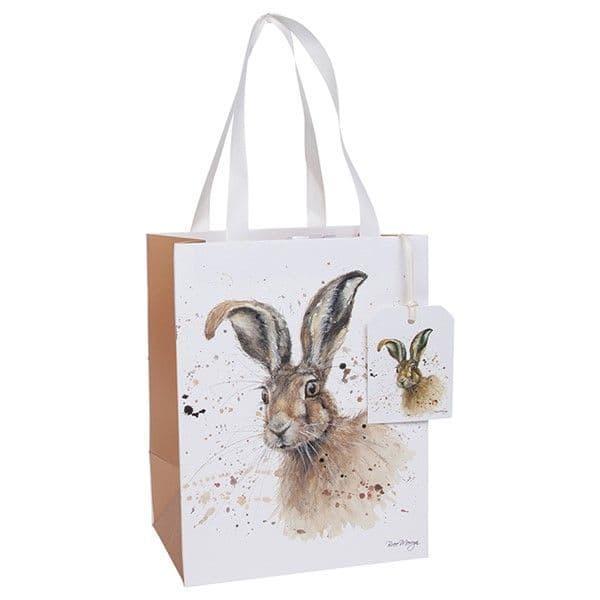 Bree Merryn Hugh the Hare Gift Bag & Tag 22.5x17.5cm