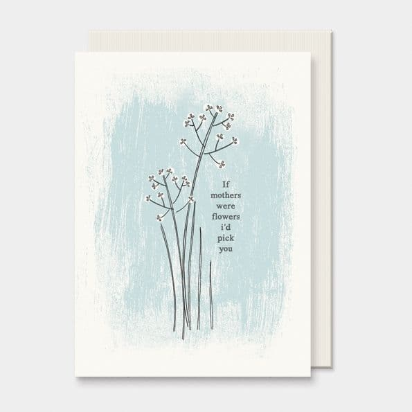 East of India Flower I'd Pick You Mother's Day Birthday Greetings Card 12x16.5cm