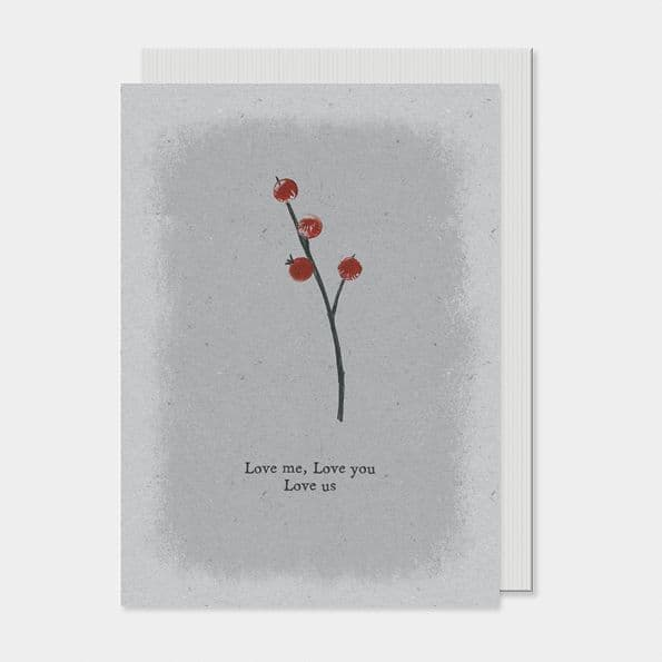East of India Simple Berry Love Me, Love You, Love Us Greetings Card 12x16.5cm