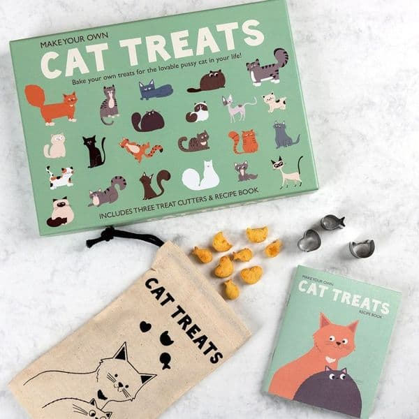 Make Your Own Cat Treats Baking Cookery Set - Recipe Book & Cutters