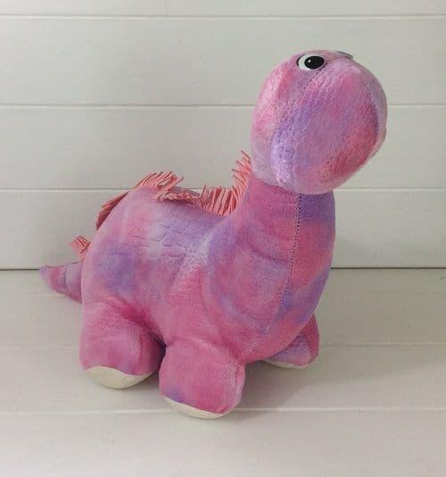 Soft Pink & Lilac Kids Cuddly Dinosaur Interior Decorative Door Stop 37x17x31cm