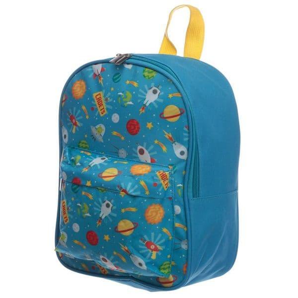 Space Cadet Colourful Toddler Children Ruck Sack Backpack School Bag 28x21x16cm