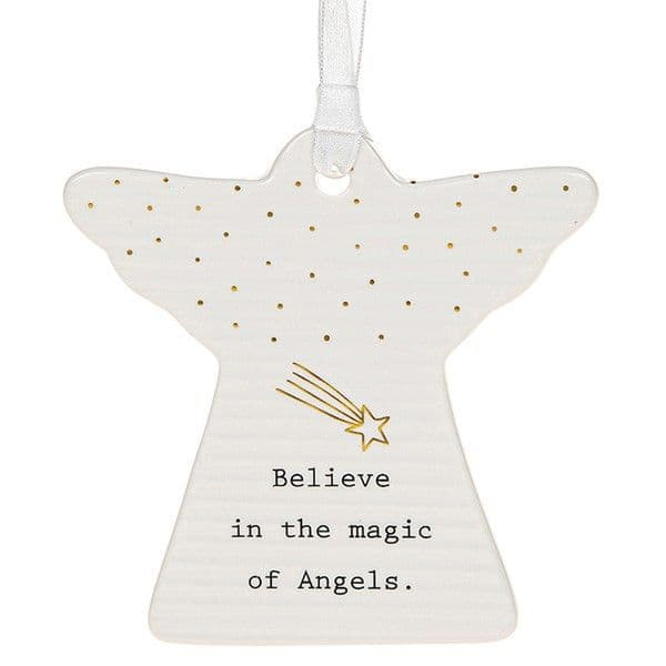 Thoughtful Words Guardian Ceramic Believe in the Magic of Angels Boxed 8x8cm