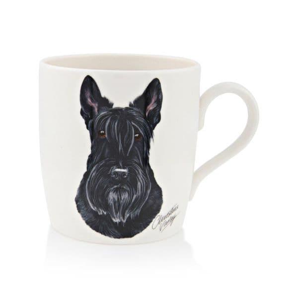 Waggy Dogz Porcelain Scottish Black Terrier Dog Pet Tea/Coffee Mug Gift 9x8cm