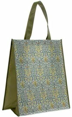 William Morris Snakeshead Reusable Travel Foldable Tote Shopping Bag 35x19x40cm