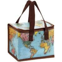 World Traveller Woven Thermal Cool Picnic Lunch Bag School/Leisure 12x22x16cm