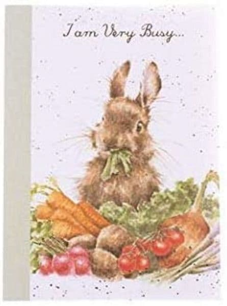 Wrendale Design Grow your Own Bunny Notebook A6 Lined Pad FSC Paper 15x10.5cm