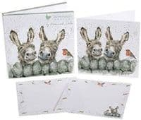 Wrendale Design Illustrated 4 Cards & 8 Notecards Hee Haw Donkey Stationery Pack