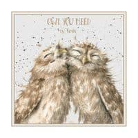 Wrendale Design Owl you need is Love Blank Inside Greetings Card 12x12cm
