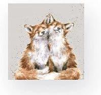 Wrendale Designs Contentment Foxes 3-ply Eco-Friendly 20 Napkins Serviette 33cm