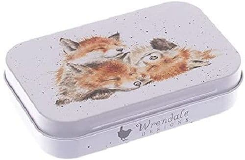 Wrendale Designs Country Afternoon Nap Foxes Keepsake Gift Mini Tin 9.5x6x2cm
