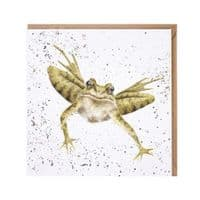 Wrendale Designs Flight of Amphibian Frog Blank Inside Greetings Card 15x15cm