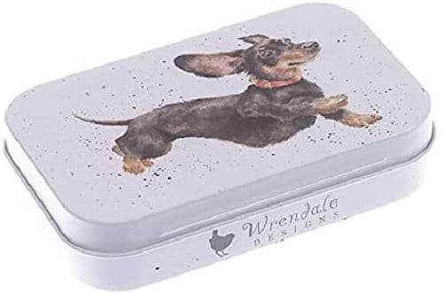 Wrendale Designs Friday Feeling Dachshund Dog Keepsake Gift Mini Tin 9.5x6x2cm