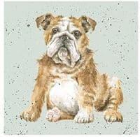 Wrendale Designs Winston British Bulldog Blank Inside Greetings Card 15x15cm