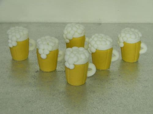 12 Beer Glass Cupcake Toppers