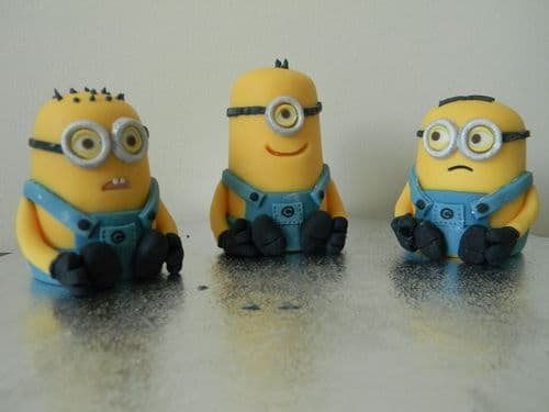 3 Minion Cake Toppers