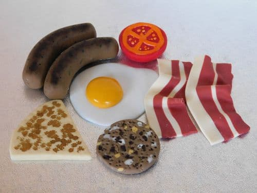 Breakfast Fry Up Birthday Edible Cake Toppers