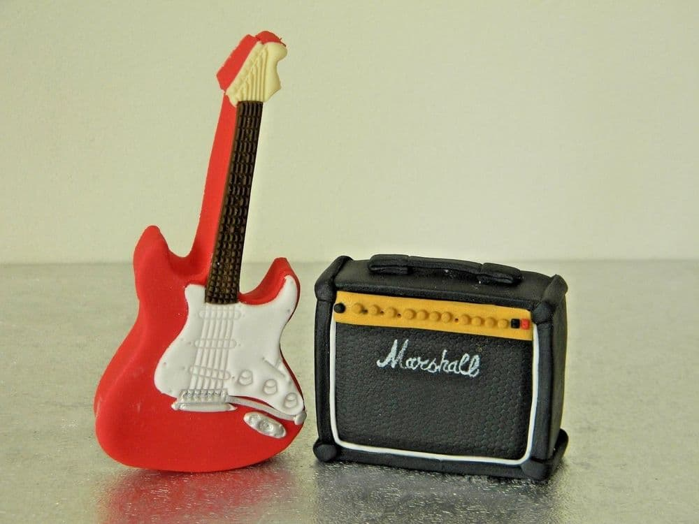 Electric Guitar & Amplifier Cake Toppers