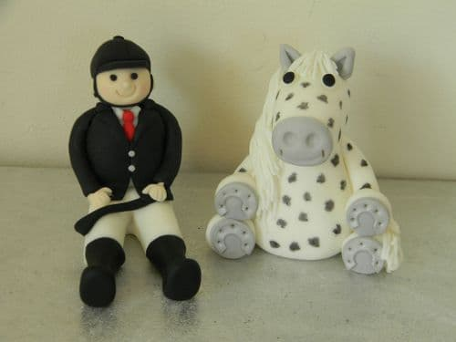 Horse & Rider Cake Toppers