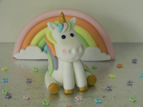 Unicorn & Rainbow Cake Toppers with Blossom