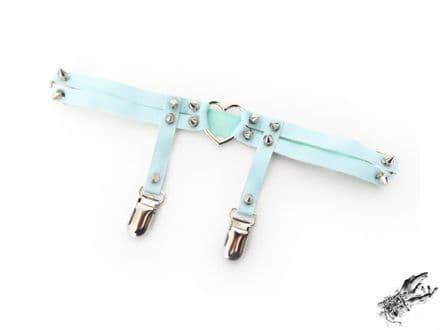 Blue Heart Ring Thigh Garter