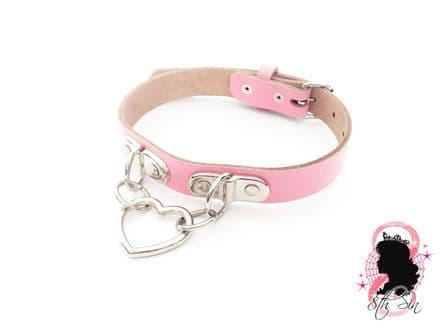 Pink Bound Heart Choker