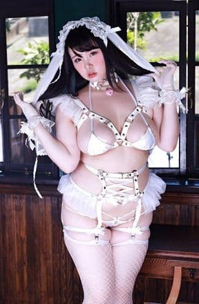 White Faux Leather Corset Harness Set