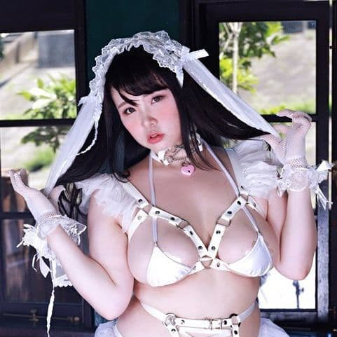 White Faux Leather Ruffled Harness
