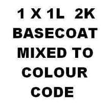 1 LT READY FOR USE RFU BASECOAT COLOUR MIXED TO CAR COLOUR CODE Pre Thinned