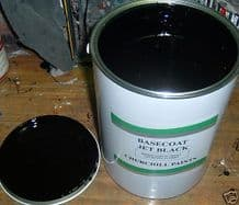 1L Solid Jet Black Solvent Basecoat Car Paint READY FOR USE RFU Pre Thinned