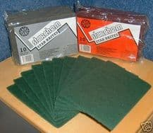 9 Mixed Scotchbrite Abrasive Finishing Pads Red Grey Green x3 of Each Mix