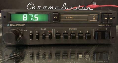 (84-85)  BLAUPUNKT HAMBURG SQM23 Stereo Radio cassette MINT WARRANTY PORSCHE MERCEDES FERRARI