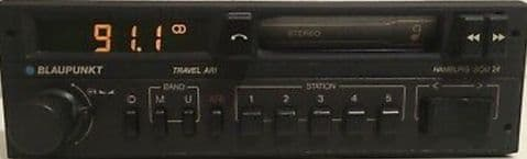 (84-85)  BLAUPUNKT HAMBURG SQM24 Stereo Radio cassette MINT WARRANTY PORSCHE MERCEDES FERRARI