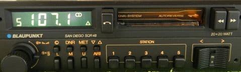 (85-86) BLAUPUNKT SAN DIEGO SQR 48  US Radio Cassette PORSCHE  FERRARI ROLLS