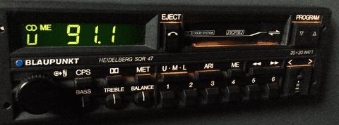 (86-88) BLAUPUNKT HEIDELBERG SQR 47 Radio Cassette  PORSCHE ASTON MARTIN FERRARI ROLLS