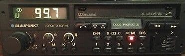(87-89) BLAUPUNKT TORONTO SQR 48 Stereo Radio Cassette  *MINT-WARRANTY*  PORSCHE 911 AUDI MERCEDES