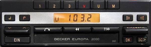 (89-94) BECKER EUROPA 2000 ELECTRONIC Stereo radio cassette PORSCHE MASERATI ROLLS ASTON FERRARI