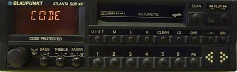 (89-94) BLAUPUNKT ATLANTA SQR 49  Vintage Classic car Radio Cassette  PORSCHE 964 911 FERRARI ROLLS