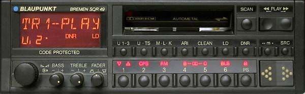 (89-94) BLAUPUNKT BREMEN SQR 49 Vintage Classic car Radio Cassette  PORSCHE 964 911 FERRARI ROLLS