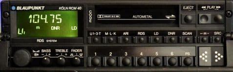 (89-94) BLAUPUNKT KOLN RCM 40 Vintage Classic car Radio Cassette  PORSCHE 964 911 FERRARI ROLLS