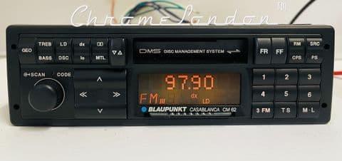 (90-93) BLAUPUNKT CASABLANCA CM62 Vintage Classic Car FM Radio Cassette VW BMW Audi Ferrari Porsche