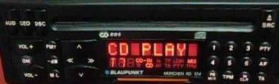 (93-96) BLAUPUNKT MUNCHEN RD 104 STEREO Vintage Classic Car FM Radio CD WARRANTY PORSCHE FERRARI BMW