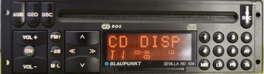 (93-96) BLAUPUNKT SEVILLA RD 104Classic Car FM Radio CD WARRANTY PORSCHE 993, 968 . FERRARI 348,