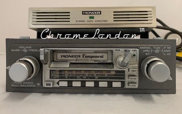 1982-85 PIONEER KEX-23  COMPONENT VINTAGE FM RADIO CASSETTE + GM-4 STEREO AMP