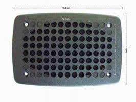 2x BLACK MONOCHROME LOUDSPEAKER + GRILL 6.5'' NEW PAIR - 70s80s - UNIVERSAL