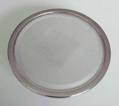 """2x CHROME SPEAKER GRILL & COAXIAL SPEAKERS 6.5"""" 16CM NEW - ETYPE SERIES 1 & UNIVERSAL"""