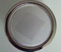 "2x CHROME SPEAKER GRILL ROUND 5"" 13CM NEW - JAG ETYPE & UNIVERSAL"
