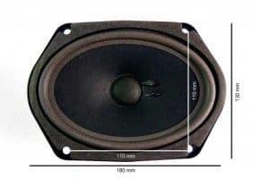 2x REAR LOUDSPEAKERS - NEW - '75-'80 PORSCHE 911 930