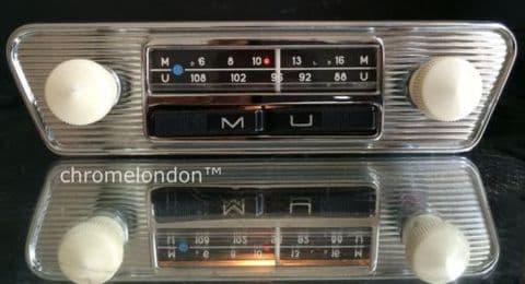 60s70s BLAUPUNKT Vintage Chrome Classic Car FM Radio MP3 see video