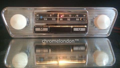 60s70s BLAUPUNKT Vintage Chrome Classic Car FM Radio MP3  VW KARMANN LOTUS ELAN MINI